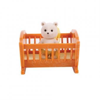 Набор Малыш медвежонок с кроваткой