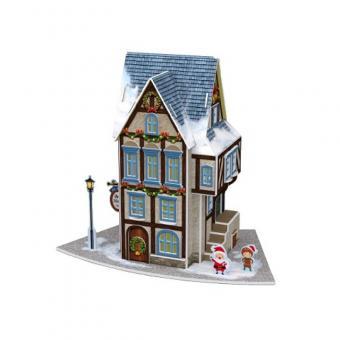 3D Пазл Рождественский коттедж 4, Рождественский ресторанчик(с подсветкой)