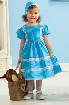 Платье для девочек голубой 18m