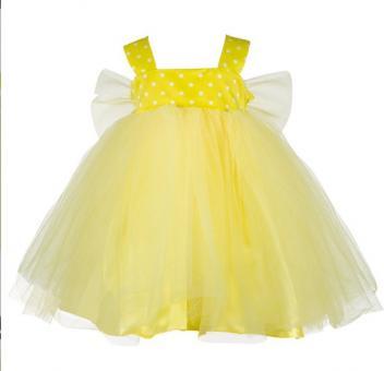 Платье для девочек желтый