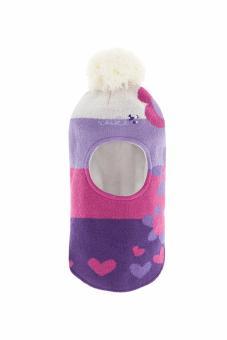 Шапка - шлем для девочки, Цветочный Сад розовый