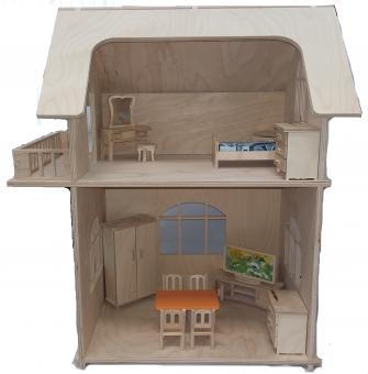 Альтаир. Набор кукольный Двухэтажный дом  (без мебели)