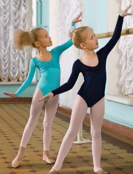 Купальник спортивный для девочек голубой