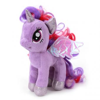 Мягкая игрушка пони искорка со звуком  18 см