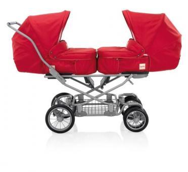 Детская коляска для двойни Inglesina Domino Twin Rubino