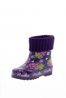 Резиновые сапоги детские, фиолетовые 25