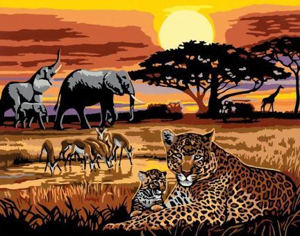 Раскрашивание по номерам  Африка, 40*30 см