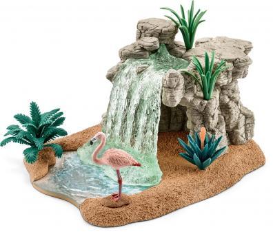 Набор водопад с фламинго