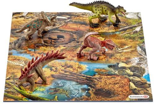 Набор мини-динозавры и пазл Заводь