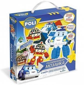 Мозаика-набор для малышей Робокар фигурная 3D аппликация