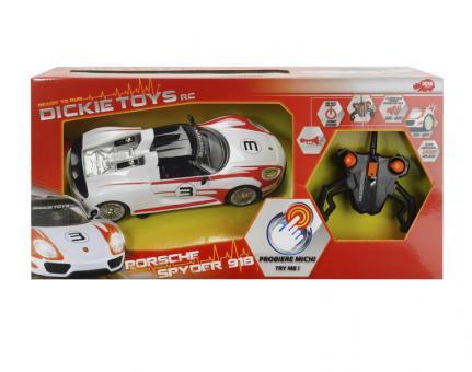 Машина р/у Porsche Spyder, свет, звук,2-х канальный, 1:16, 26см