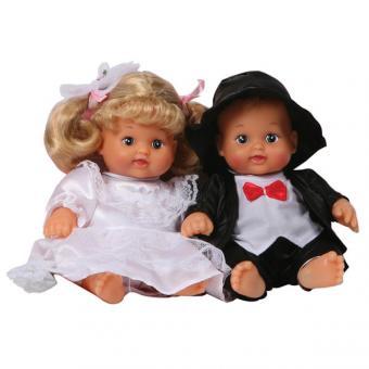 Набор из 2-х кукол Жених и невеста, цвет в ассорт в сумке