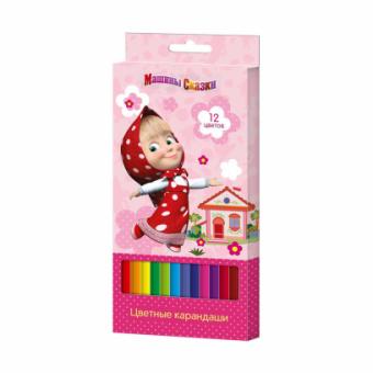 Маша и Медведь. Цветные карандаши 12 цветов