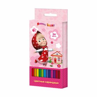 Маша и Медведь. Цветные карандаши 24 цвета