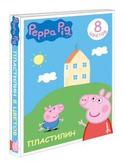 Свинка Пеппа. Пластилин 8 цв. Свинка Пеппа