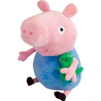 Свинка Пеппа. Мягкая игрушка Джордж с динозавром 40 см.