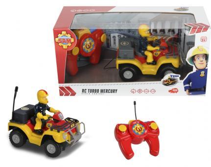 Пожарный Сэм, Квадроцикл на радиоуправлении, 2х кан., свет, 1:24