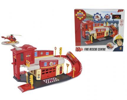 Пожарный Сэм, Пожарный гараж с акс.,+машинка, 62,5x24x19,5см