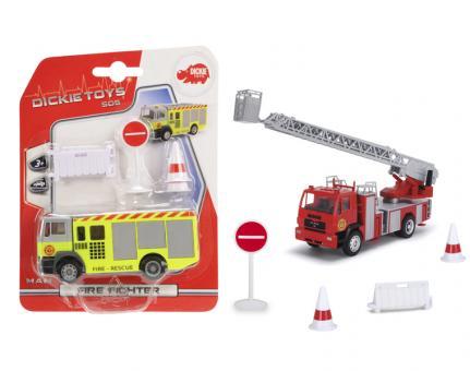 Пожарная машина, 12 см, свободный ход, 2 в.