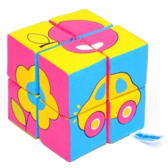 Мякиши-кубики Собери картинку.Предметы