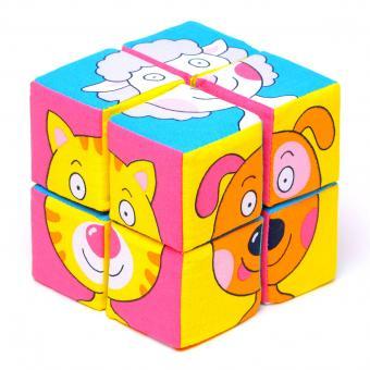 Мякиши-кубики Собери картинку.Зверята