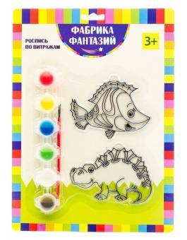 Набор для росписи витража Дракон и рыбка
