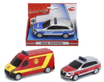 Машинки серии SOS, фрикц., 1:36, 14 см., 3в