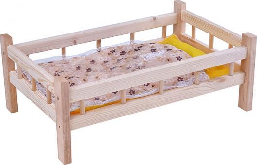 Кроватка для кукол №10 дерево