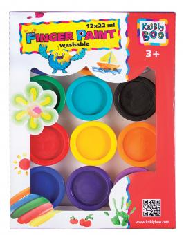 Пальчиковые краски 12 цветов по 22 мл.