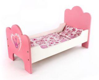 Кроватка Корона с постелькой (дерево)