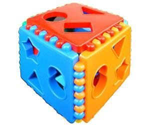 Логический куб со сквозными отверстиями Построй фигурки