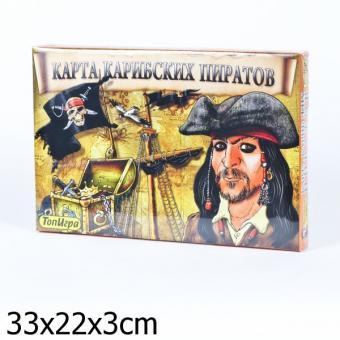 Карта Карибских пиратов игра+раскраска