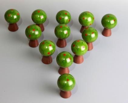 Счетный материал дерево Яблонька 10 шт.
