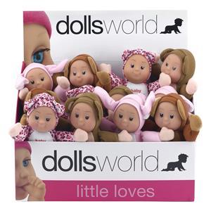 Dolls World.Пупс в маскарадном костюме 20 см со звуком погремушки
