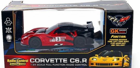 Машина на радиоуправлении 1:24 Chevrolet Corvette Racing car со светом