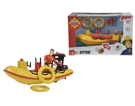 Пожарный Сэм, Лодка спасателей с акс. + фигурка, 20см