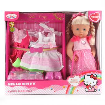Кукла. Hello kitty 40см, с набором одежды, с аксесс.