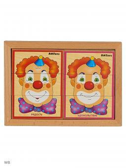 Разрезные картинки Клоун-эмоции 6 шт