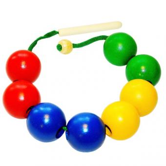 Шнуровка-бусы шары цветные (8 шт.)