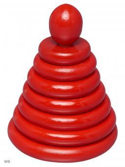 Пирамидка Красная 8 деталей