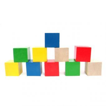 Кубики цветные 10 шт.