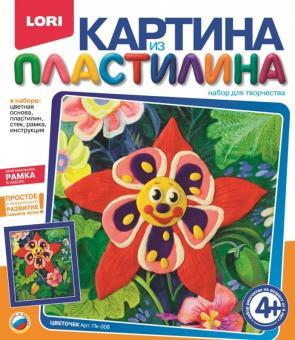 Картина из пластилина Цветочек
