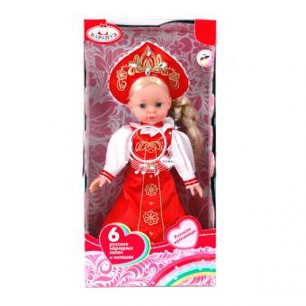 Кукла 33 см. озвученная  6 русских народных потешек и песен