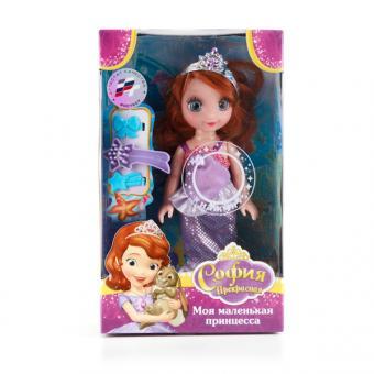 Кукла Disney Принцесса София 15см, озвученная , в одежде руссалочки.