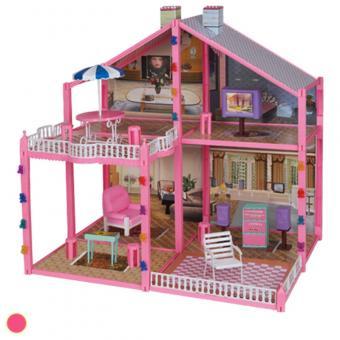 Дом для кукол с мебелью 4 комнаты, 133 детали