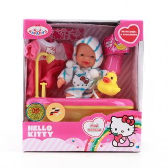 Кукла. Hello kitty 10см, в ванночке, с акксесуарами