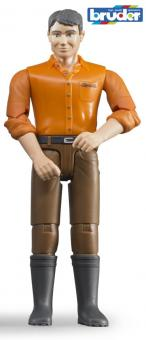 Фигурка мужчины коричневые джинсы
