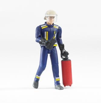 Фигурка пожарного с огнетушителем и рацией, 10 см