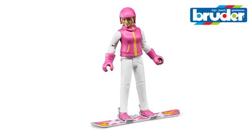 Фигурка сноубордистки с аксессуарами, 10 см