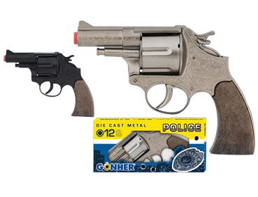 Револьвер Police на 12 пистонов, черный